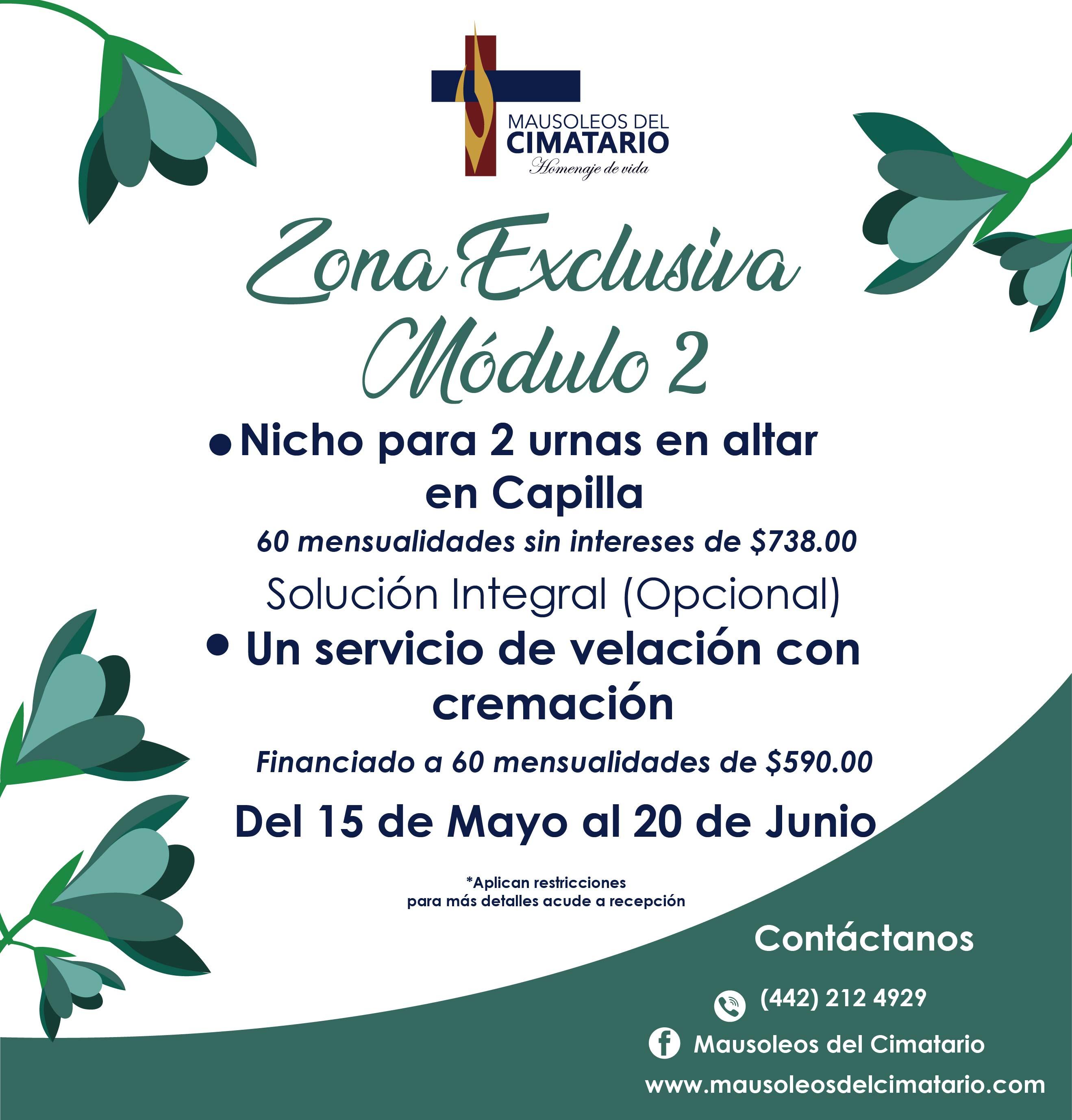 Promocion Mayo/Junio Mausoleos del Cimatario.