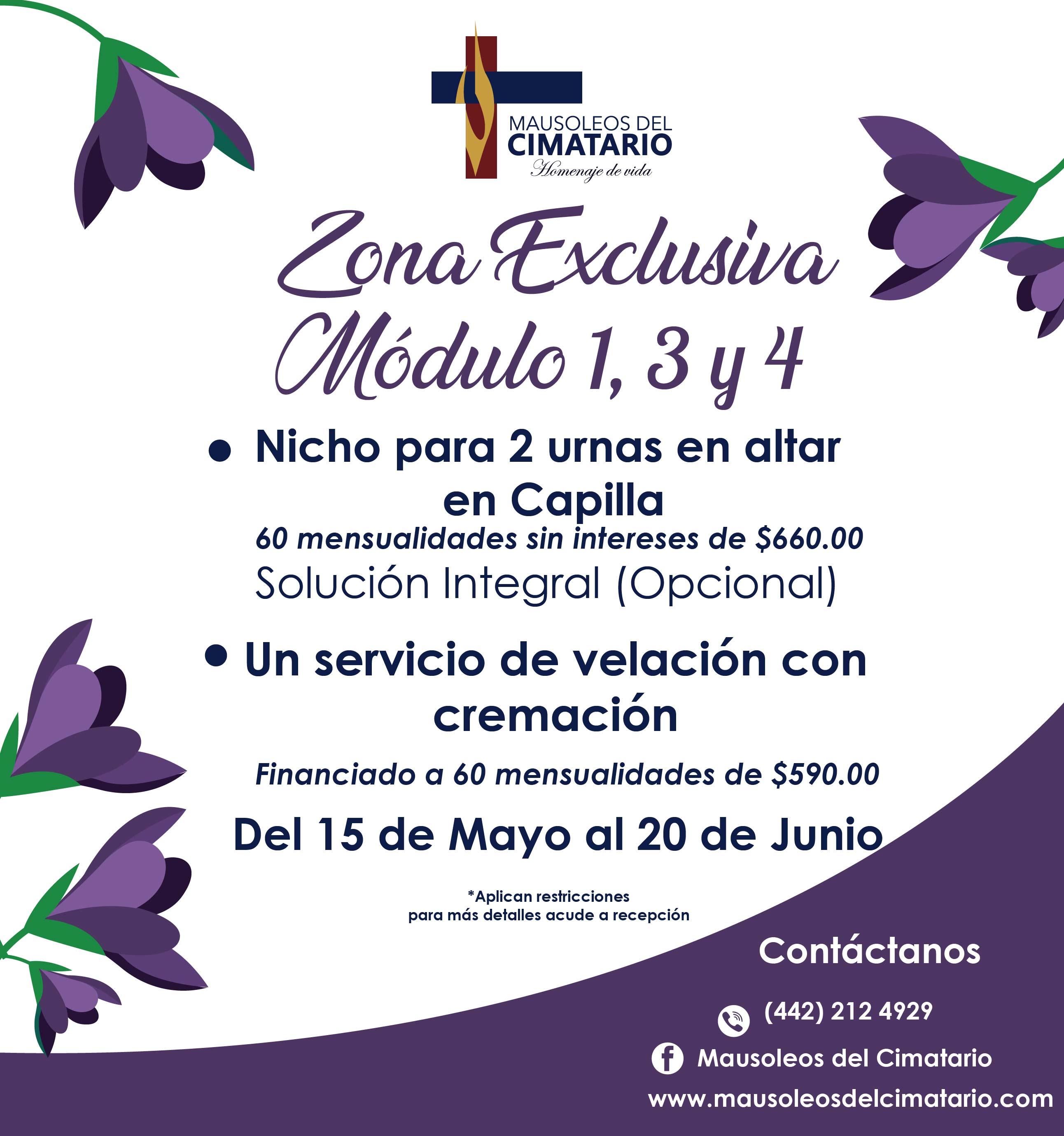 Promoción Mayo/Junio Mausoleos del Cimatario